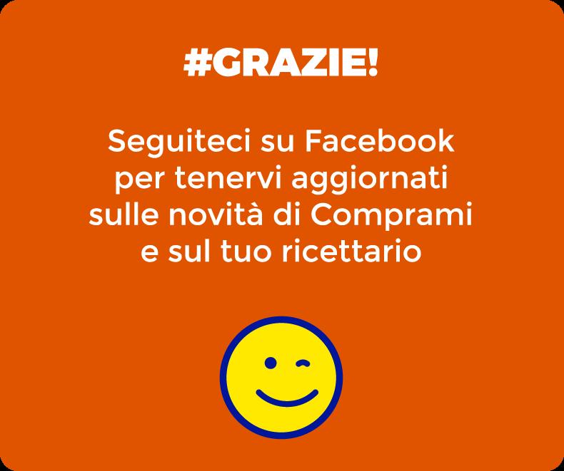 Grazie! Seguiteci su Facebook